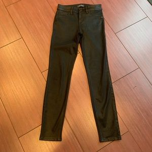 Anthropologie Level 99 coated skinny jeans